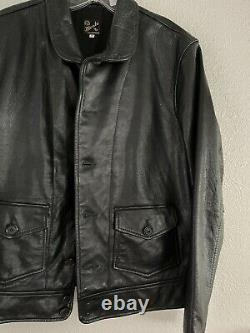 Levi's Vintage Clothing LVC 1930s Menlo Cossack Stand Collar Leather Jacket M