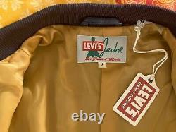 Levi's Vintage Clothing (LVC) 1950's Leather Bomber Jacket Small (S)