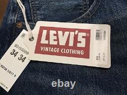 Levi's Vintage Clothing LVC 1955 Lost City 501 XX Selvedge Jeans Size 34x34 NWT