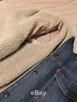 Levi's Vintage Clothing Type III Sherpa Lined Trucker Denim Galaxy M MSRP $360