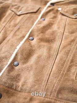 Levi's Vintage Clothing Western Wear Type 3 Suede Leather Jacket Large LVC RRL