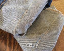 Levis 505 0127 Big E Selvedge Redline Jeans 40 x 30 Red Line #5 Single Stitch