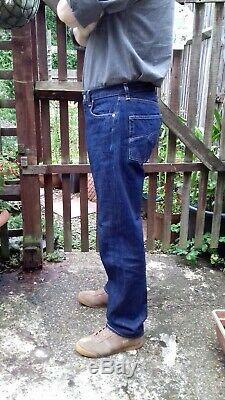 Levis Vintage Clothing 1966 501 Big E Red Line Selvedge Rigid Denim Jeans