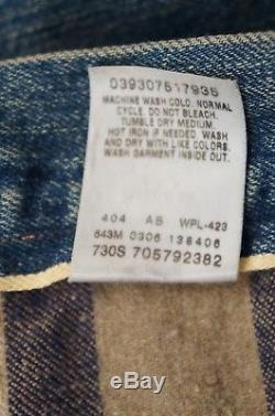 Levis Vintage Clothing LVC 1897 Lined Selvedge Denim Jean Jacket Large