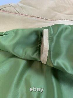 Levis Vintage Clothing LVC Loose Suede Bomber Jacket Fall Leaf Orange XL Nwt