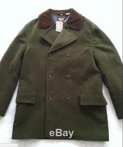 Levis Vintage Clothing LVC Men Blanket Lined Coat Olive Sz M Nwtg Sample