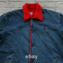 Levis Vintage Clothing LVC Western Denim Jacket Size M Lined Sample