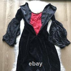 Lip Service Vintage Gothic Lace Velvet Dress Size Small