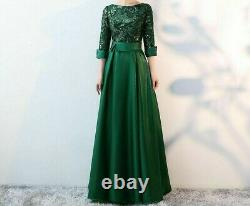 Long Party Dresses Evening Gown Women's Formal A-line Sequins Elegant Dress Wear