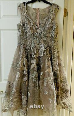 MAC DUGGAL Women's Vintage Rose Floral Embellished Fit & Flare Midi Dress $578