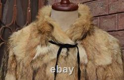 MENS FUR COAT VINTAGE ORIGINAL COYOTE ALASKAN FUR COAT JACKET Chest 42