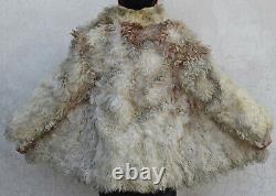 MONGOLIAN CURLY LAMB Tibetan Shaggy Sheep FUR COAT Vintage Winter Bust 37