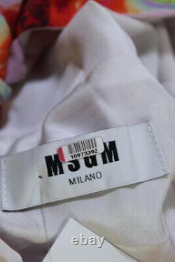 MSGM Womens Vintage Floral Long Sleeve A Line Dress Pink Size FR 38 10973392