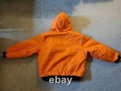Made USA CARHARTT 125 Duck Cloth Jacket Hooded Sz L Blaze J140BLZ NEW w TAGS