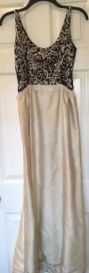 Malcolm Starr Vtg 50s 60s Beaded Evening Gown 60's Sleeveless A-line Xs Small