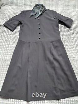 Margaret Howell Dress Size Small Wool Silk Lining With Vintage Buttons