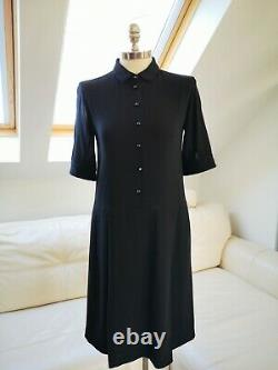 Margaret Howell Dress Size Small Wool Silk Lining With Vintage Chanel Buttons