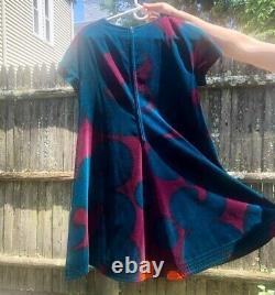Marimekko Rare Finland Vintage 1960s-Era Velvet Zip Dress Size 38