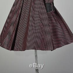 Medium Geoffrey Beene Boutique Dress Pink Black Diamond Full A Line Long Sleeve