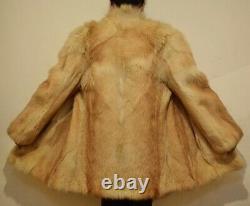 Mens Fur Coat Real Coyote Fur Coat Natural Vintage Alaskan Farmer Chest 42 (27)