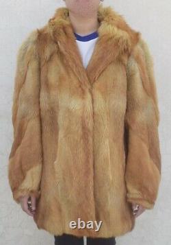 Mens Fur Coat Real Coyote Fur Coat Natural Vintage Alaskan Pelt Chest 46 (86)