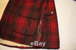 Mens Polo Ralph Lauren Vintage Western Shearling Lined Jacket Size Medium
