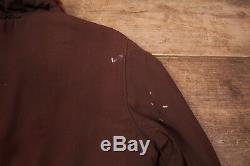 Mens Vintage 1950s Brown Quilt Lined Fur Collar Jacket Medium 40 XR 8675