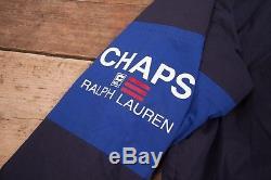 Mens Vintage Chaps Ralph Lauren Blue Quilt Lined Coat Jacket Large 44 R8852