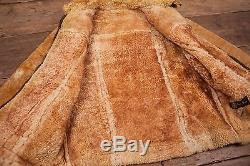 Mens Vintage Sheepskin Shearling B3 Leather Fur Lined Jacket Brown L 44 R4569