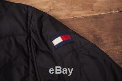 Mens Vintage Tommy Hilfiger Down Lined Puffa Jacket Black L 44 R5044