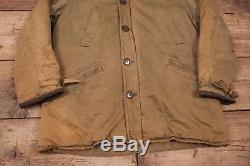 Mens Vintage USAF 1940s B-9 Military Mouton Lined Hood Parka Medium 40 XR 8720