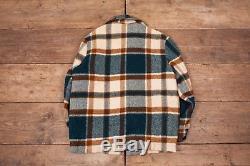 Mens Vintage Woolrich 1960s Plaid Fur Lined Wool Jacket Talon Zip M 42 R6433