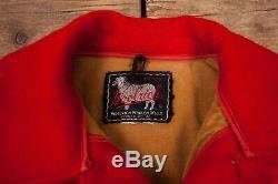 Mens Vintage Woolrich 60s Red Lined Wool Hunting Field Jacket Medium 38 R11663
