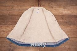 Mens Vintage Wrangler 1970s Blue Fur Lined Denim Sherpa Jacket Small 36 R6504