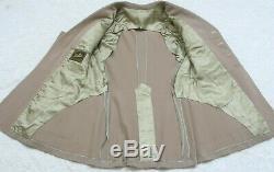 Military Dress Suit Jacket Coat Mens Beige Lined Blazer 4 Button S. W. Rice 1944