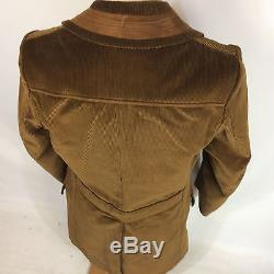 Minty Vtg Sears Corduroy Mod Atomic Lined Trench Coat Jacket Winter Parka 42 L