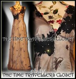 NEW KATE MOSS TOPSHOP BUTTERFLY CORSET MAXI DRESS VINTAGE 20s 30s 40s UK 12 40 8