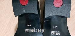 NIB NEW Vintage Versace V2 Classic Black Suede Moccasin Loafer Shoes Size 8.5