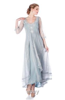 Nataya 40163 Downton Abbey Tea Party Dress XL Formal Lace Victorian VTG NWT