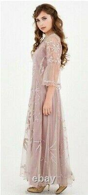 Nataya Romantic Vintage style Dress S Pink Elizabeth Amethyst NWT#40149