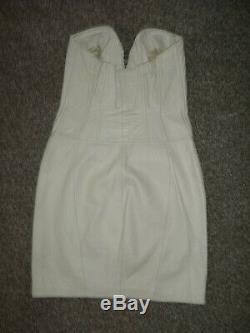 North Beach Leather Michael Hoban Vintage 80's White Genuine Leather Dress M