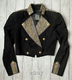 North Beach Suede Leather Michael Hoban Dress & Jacket 2 Piece Suit VTG Sz 9/10