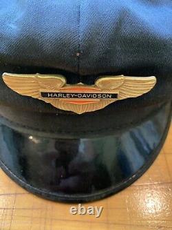 Old Vintage Harley Davidson HD Motorcycle Cap Hat Biker Brando 1950s 1960s Era