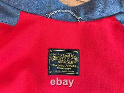 Old Vintage Nurse Cape Standard Apparel Company WWII Red Lined Heavy WOOL guc