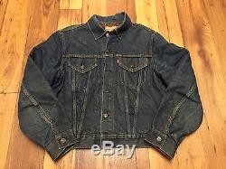 Original Vintage LEVI'S 559 Big E Blanket Lined Jacket (Size 42)