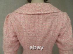 Oscar de la Renta Women's Size 6 8 S Dress Skirt Suit Jacket Tweed Pink Vintage
