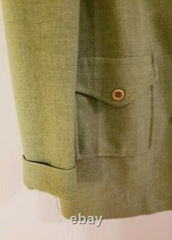 Pendleton Women Vtg 70s Dress Coat 100% Wool Green Button Front No Tag Medium