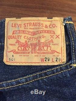 RARE 1960s Levi's Big E Red Line Selvedge 501 S