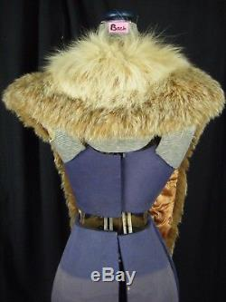 RARE Vintage Ivory/Light Brown Lynx Super Long Collar withLined- 72 Long
