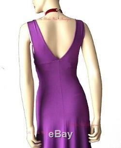 ROBERTO CAVALLI vintage purple A Line 1940s style ring DRESS size UK 8 USA 4 40